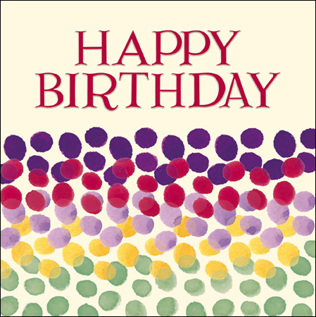Emma Bridgewater Happy birthday rainbow dots card - Daisy Park