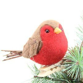 Robin on peg Christmas tree decoration - Daisy Park