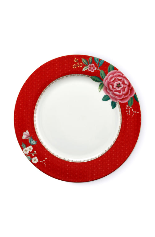 Pip Studio Blushing Birds red 26.5cm plate - Daisy Park