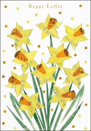Happy Easter Daffodil Card - Daisy Park