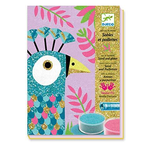 Djeco Coloured Sand Dazzling Birds - Daisy Park