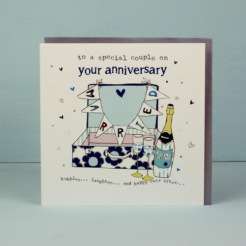 To a special couple on your anniversary card - Daisy Park