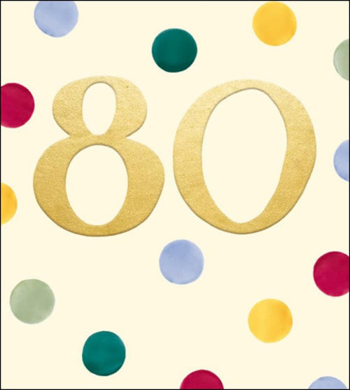 Emma Bridgewater 80th Birthday card