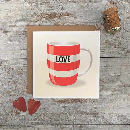 Love red mug card - Daisy Park