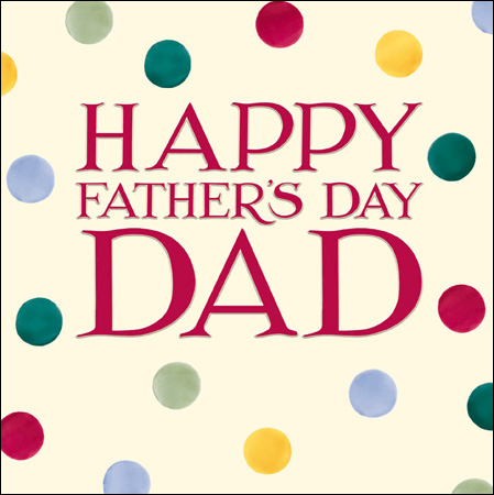 Emma Bridgewater Happy Father's Day Dad card - Daisy Park