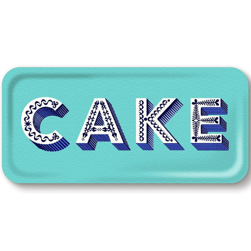 Asta Barrington aqua Cake long tray - Daisy Park