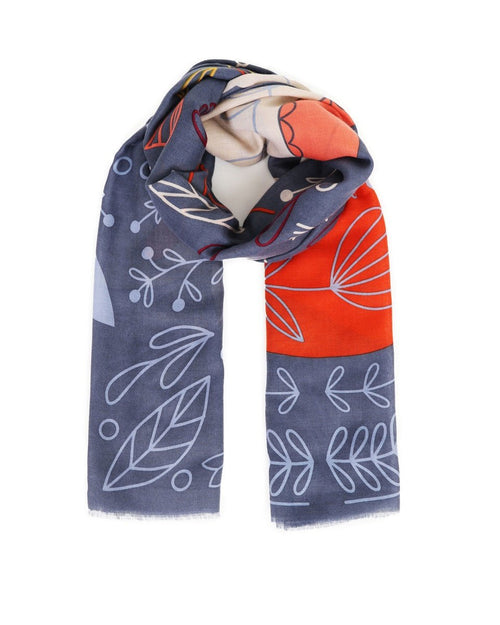 Scandi Fox and Hare print scarf - Daisy Park