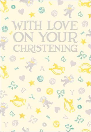 Emma Bridgewater With love on your christening card - Daisy Park