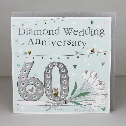 60th Diamond wedding anniversary card - Daisy Park