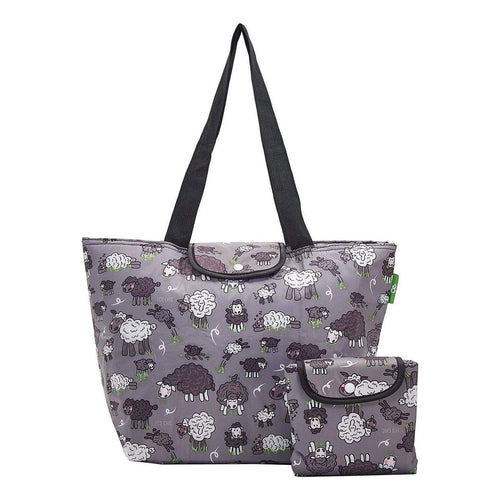 Eco Chic Grey Sheep Large Cool Bag - Daisy Park