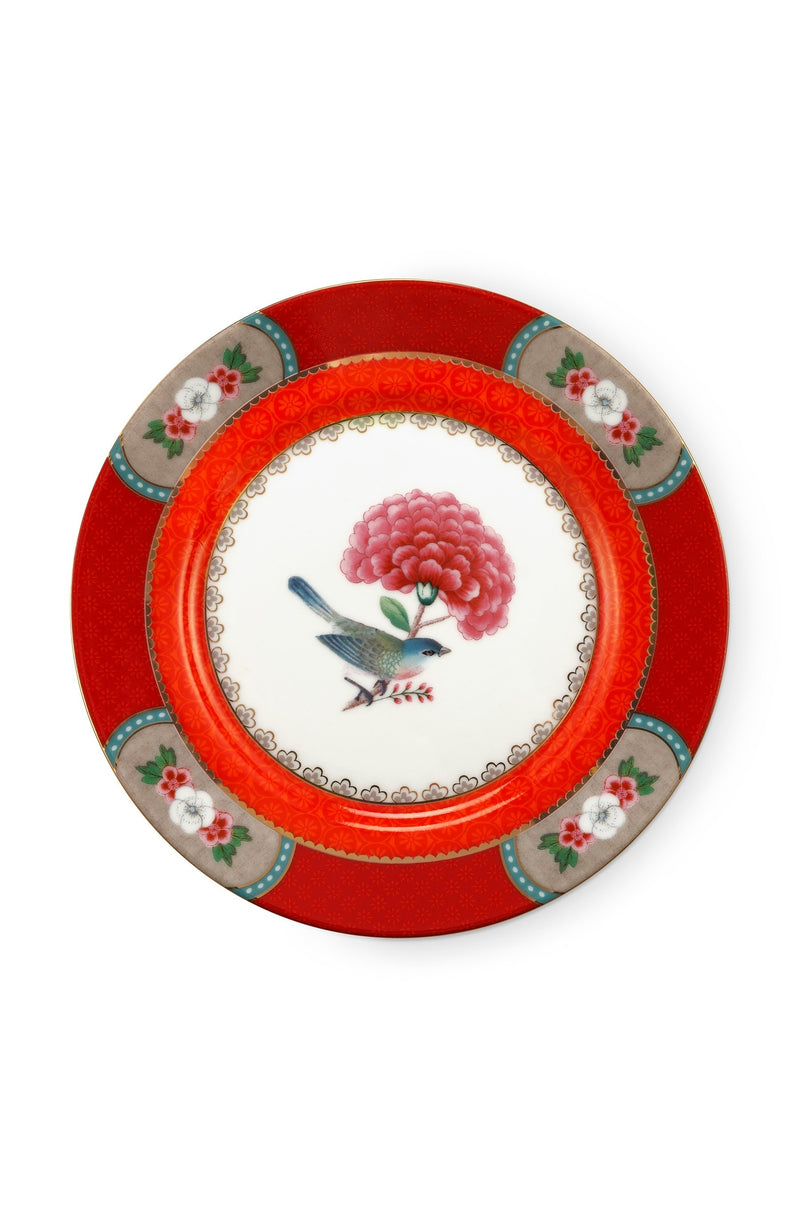Pip Studio Blushing Birds Red 17cm pastry plate - Daisy Park