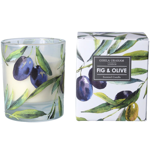 Boxed scented candle - Olive sprigs