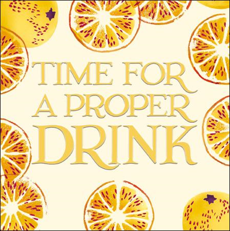 Emma Bridgewater Time for a proper drink card - Daisy Park