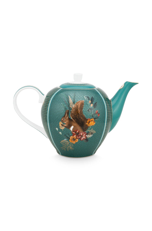 Pip Studio Winter Wonderland Squirrel large teapot - Daisy Park