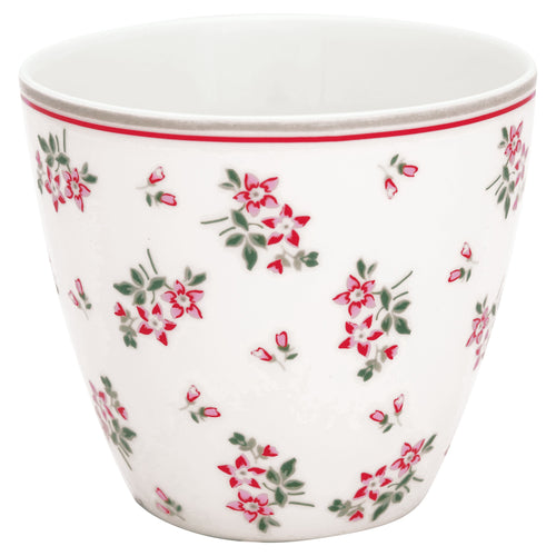Greengate Avery white latte cup - Daisy Park