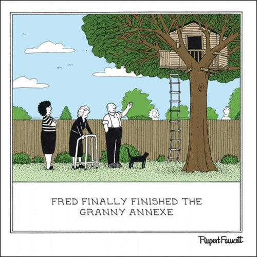 Fred - Granny annexe card