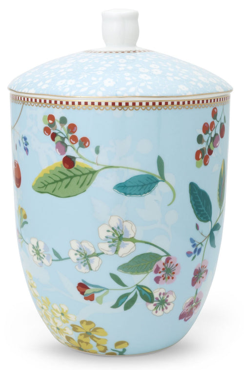 Pip Studio Floral storage jar Hummingbirds blue - Daisy Park