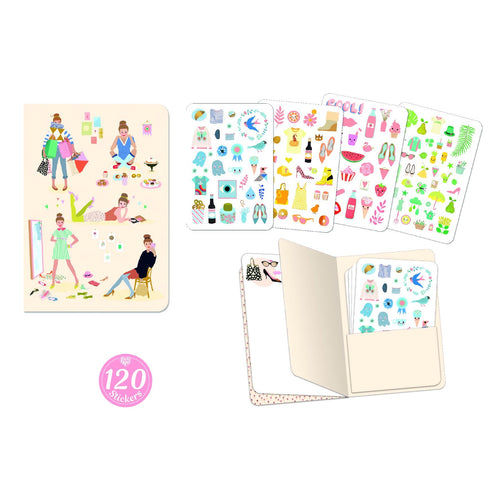 Djeco Notebook with Stickers Tinou - Daisy Park