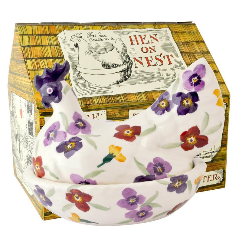 Emma Bridgewater Wallflower hen on nest boxed