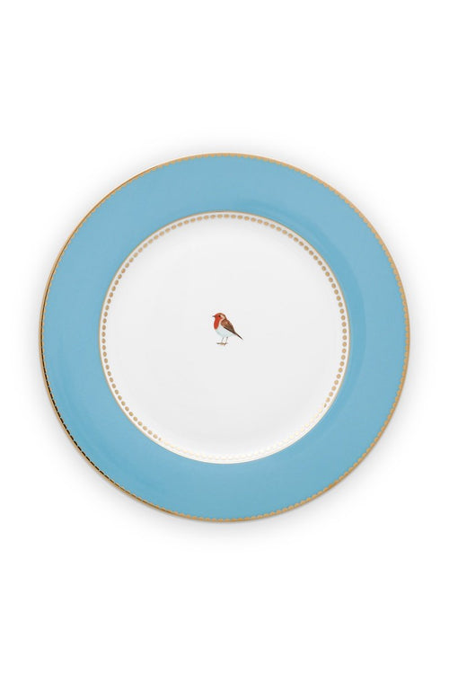 Pip Studio Love Birds 26.5cm blue dinner plate