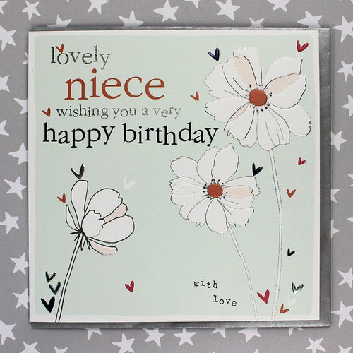 Lovely Niece birthday card - Daisy Park