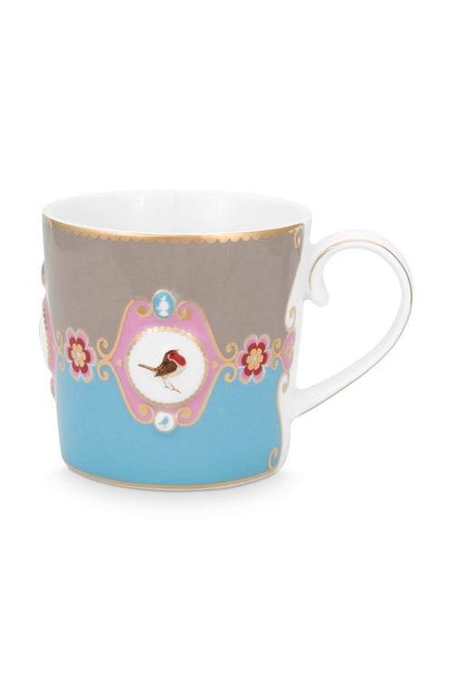 Pip Studio Love Birds Blue medallion mug