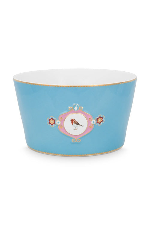 Pip Studio Love Birds medallion blue 15cm bowl