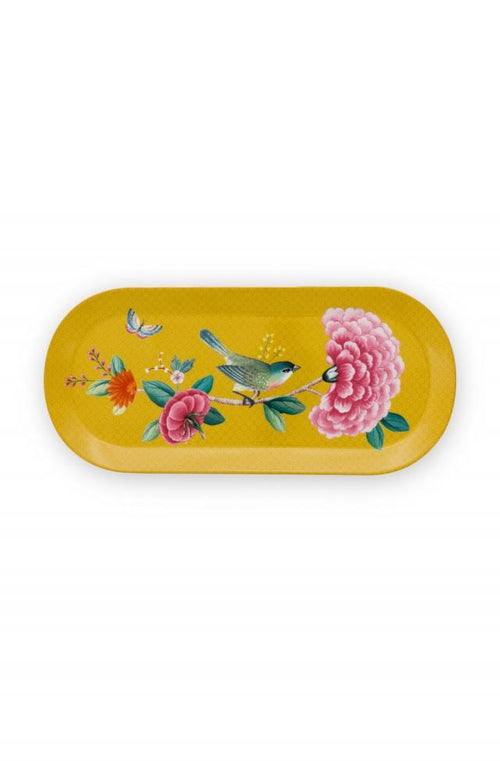 Pip Studio Blushing Birds Yellow rectangular cake tray - Daisy Park