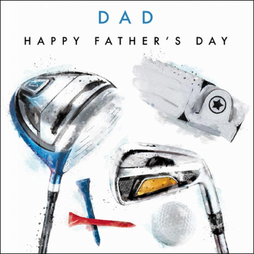 Dad Happy Father's Day - Golf card - Daisy Park