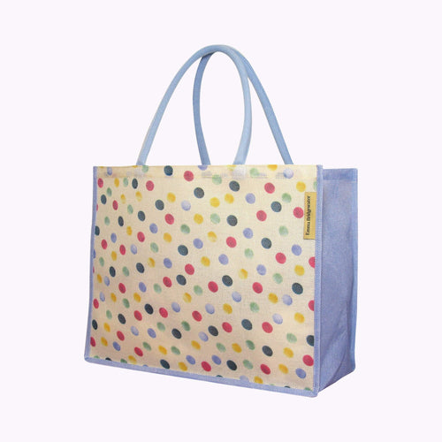 Emma Bridgewater White Polka Dot Shopper - Daisy Park