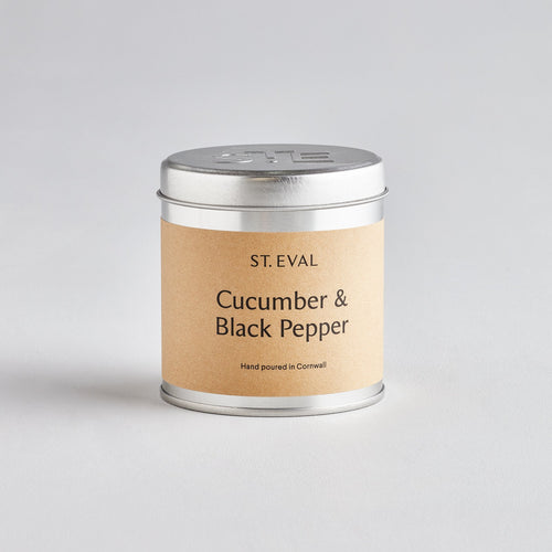 St Eval Cucumber and Black Pepper scented tin candle - Daisy Park