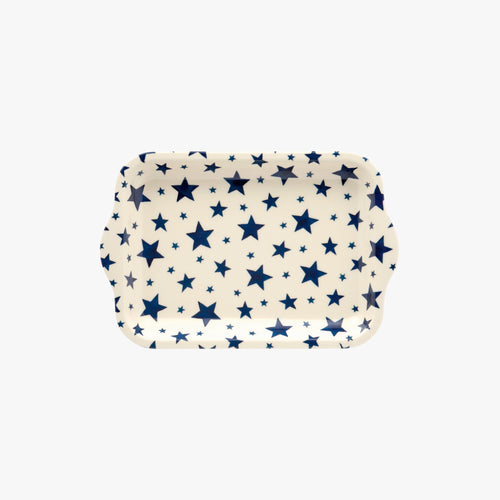Emma Bridgewater Starry Skies small melamine tray - Daisy Park