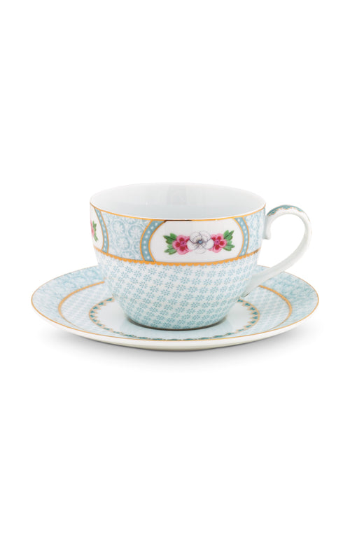 Pip Studio White Cappuccino cup & saucer - Daisy Park
