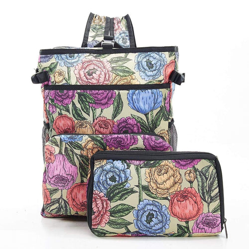 Eco Chic Green Peonies Cool Backpack - Daisy Park