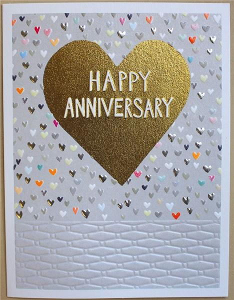 Happy Anniversary heart card - Daisy Park