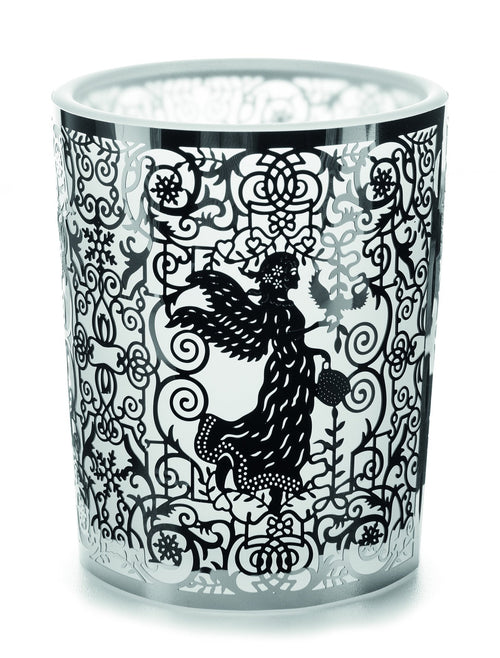 De Greef Xmas Silver Angel Glass Votive