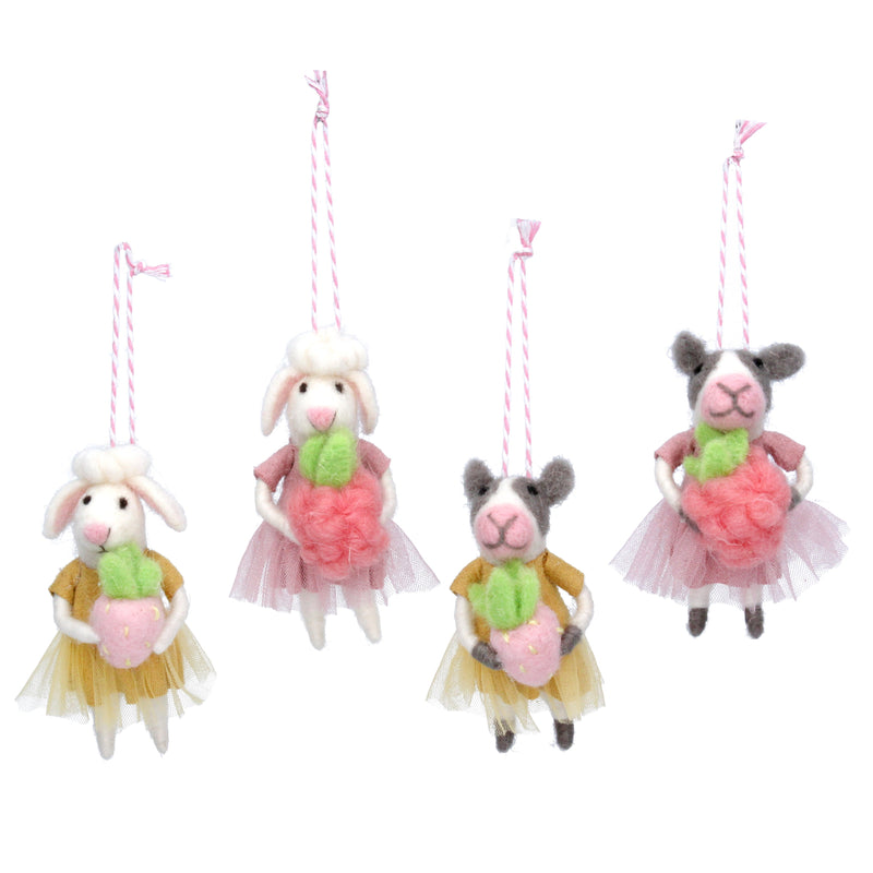 Wool cow or sheep ballerina decoration - Daisy Park