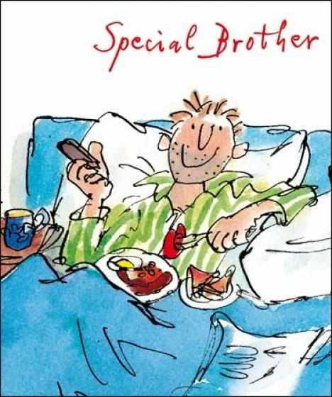 Quentin Blake Special Brother Bday Card - Daisy Park