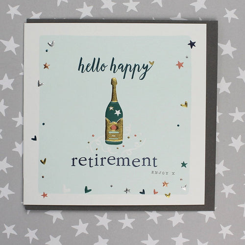 Hello Happy Retirement card - Daisy Park