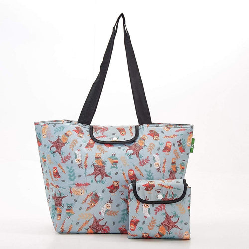 Eco Chic Blue Owl Large Cool Bag - Daisy Park