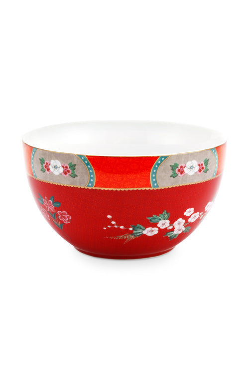 Pip Studio Blushing Birds red 18cm bowl - Daisy Park