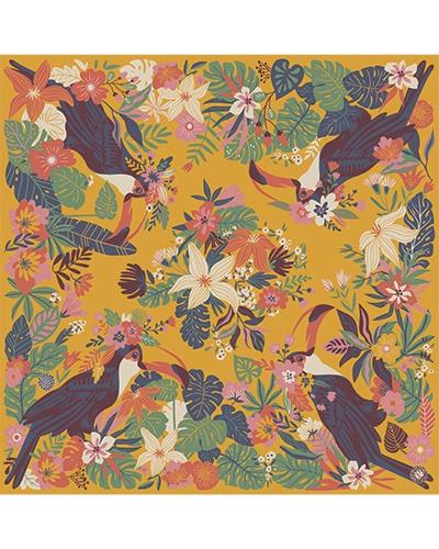 Toucan satin square - Daisy Park