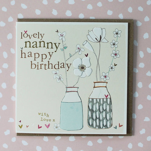 Nanny Birthday card - Daisy Park