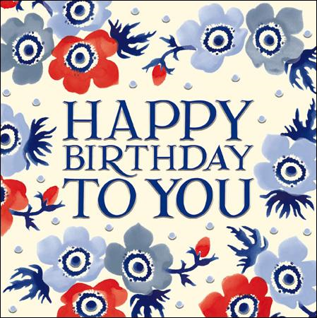 Emma Bridgewater Happy birthday to you card - Daisy Park