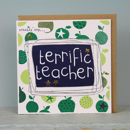 Terrific teacher card