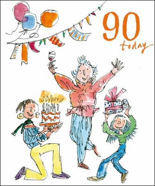 90th birthday fun card - Daisy Park
