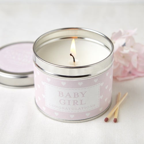 Baby girl sentiment tin candle - Daisy Park