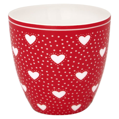 Greengate red Penny mini latte cup - Daisy Park