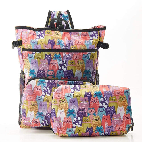 Eco Chic Cats Cool Stacking Backpack - Daisy Park