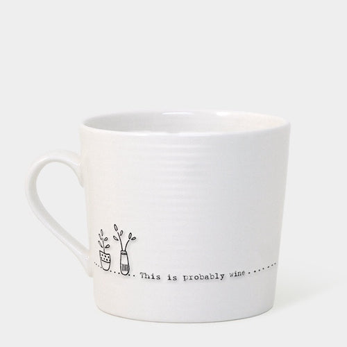 East of India 'This is probably wine' boxed mug - Daisy Park